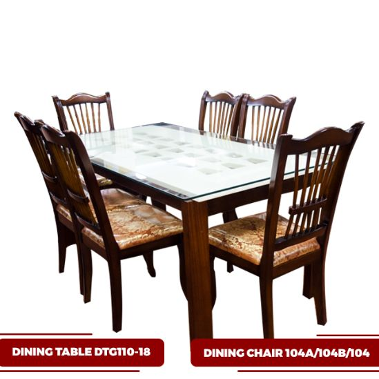 DINING TABLE DTG110-18